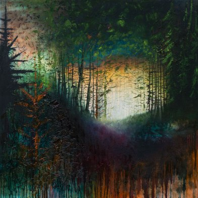'Souvenirs' 120cm x 120cm Oil, Mixed Media on Canvas