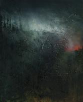 'Tall Trees' 20cm x 25cm Oil, Mixed Media on Canvas