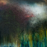 'Solace'. 61cm x 61cm, Oil, Mixed Media on Canvas