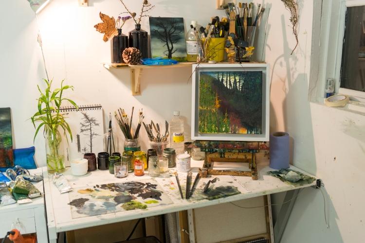 Unfolding Autumn_30x30cm In Studio