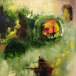 'The Sheep Farmer' 70 x 70cm, Price: €700