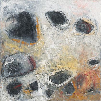 Rock Field, Oil on Canvas, 40x40cm