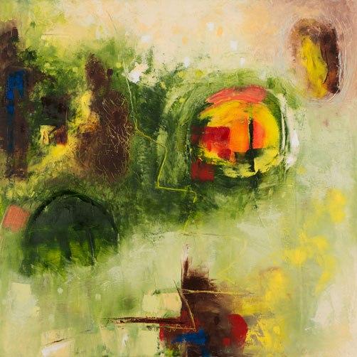 Sheep Farmer, Oil on Canvas, 70x70cm